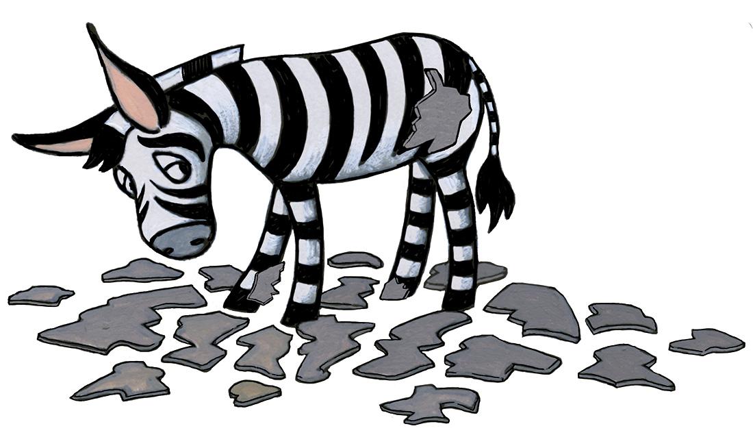 kinderboek 'de groene zebra'