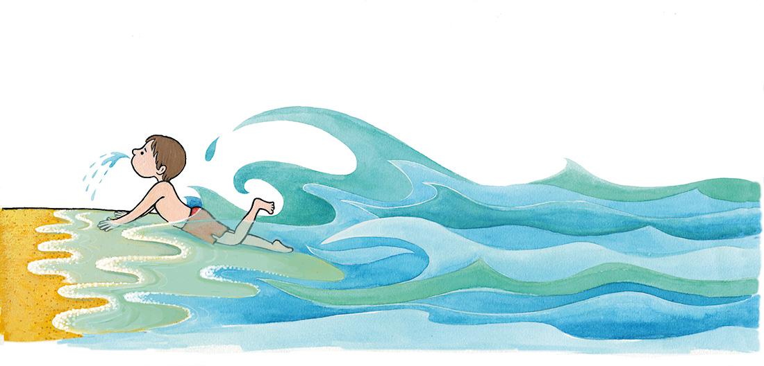biebboekje 'fijn dat er water is'